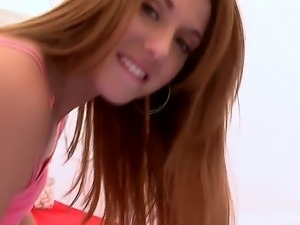 Sweet redhead Rose Red Tyrell is a young looking sexy chick with bubbly ass....