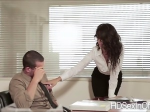 Sexy hot secretary Alexa Tomas gets her pussy banged in