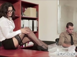 Super hot Alexa Tomas gets banged in the table