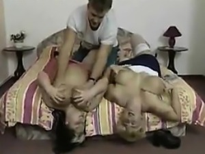 FFM Threesome With Two Big Older Women