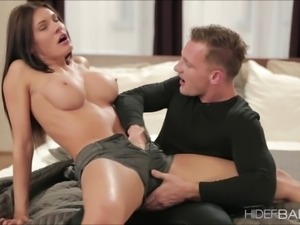 Hot busty Kitana Lure gets pounded by huge cock after d