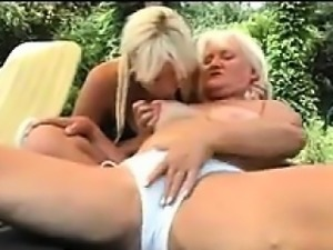 Granny And A Beautiful Blonde Chick