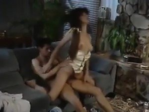 Horny MILF Fucking On The Couch Classic