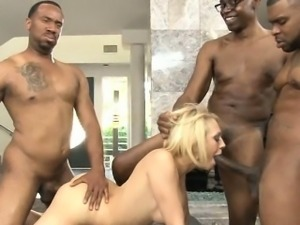 Kagney Lynn Karter double pounded by big black cocks