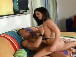 Breathtakingly hot cutie knows no limits when it comes to cock stroking