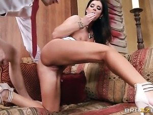 India Summer plays with a cock
