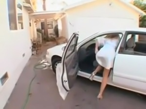 how white milf pay car wash guy with hot pussy free
