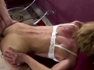 Anal addicted not mother gets warm cum inside