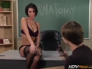 Beautiful MILF babe Dylan Ryder lets student fuck her HD