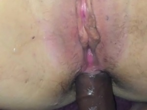 Anal fuck in a hairy ass