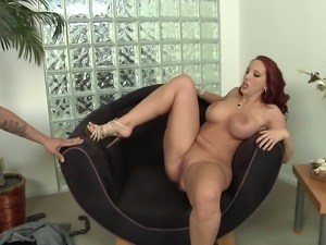 He rims her ass then slams his fat cock in her tight asshole