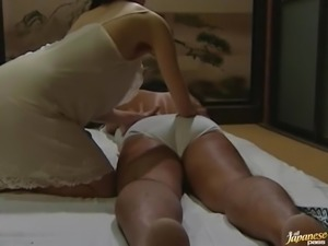 Hot Japanese chick gets fucked by her husband in missionary position