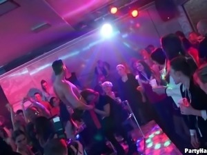 Male strippers in costumes gets naked and fuck club sluts