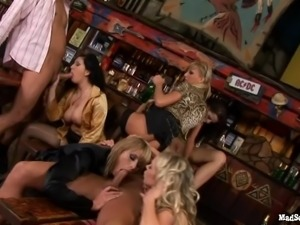 Girls kissing, giving head, fucking and partying at a club