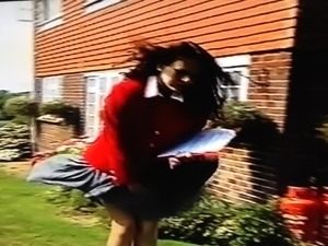 windy Skirt Problem In Front Of Workmen 2
