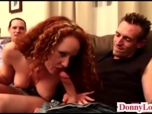 Donny Long gives first big cock to big boob slut mommy milf