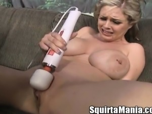 Big breasted babe Katie Kox has a squirting cunt needing to be pleased