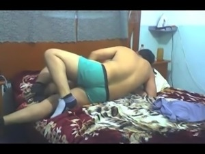 Indian dude works his hard fucking his girlfriend