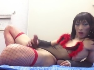 asian crossdresser playing