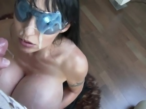 Insane amount of cum on her face