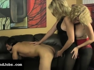 Cory Chase and Vanessa Vixon taking care of Lance Hart's wild desires