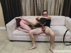 Dazzling young babe gets pumped full of cock and screams with delight