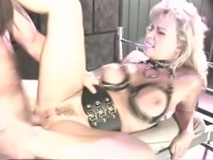 Retro blonde mom gets her cunt slammed in a prison