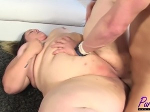 brand new SSBBW Monika Mynx does her first hardcore
