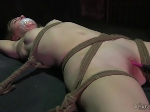 Interracial BDSM shoot of bondage cowgirl getting tortured