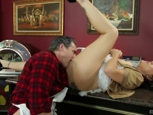 Raylene's experienced lover can't wait to start exploring her depths