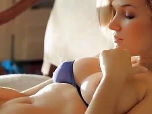 Delicious Elisa A blonde meets this beautiful morning with her ultra wet...