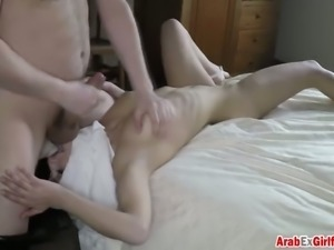 Seductively attractive Arab chick just loves to fuck on camera