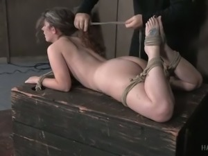 Bosomy slut Samsara gets hogtied by her bondage master