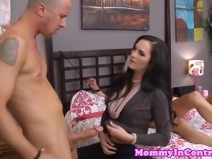 Classy stepmom pmilf pounded in threeway