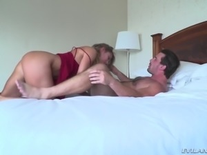 She rode my cock long and hard. She was loving this position and wouldn't let...