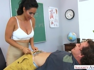 After classes I tried to seduce my teacher, and she was so impressed, that we...