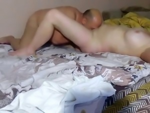 Eating his wifes pussy is his hobby