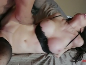 Adorable babe Diana Prince enjoys sucking hard penis and takes it in her...