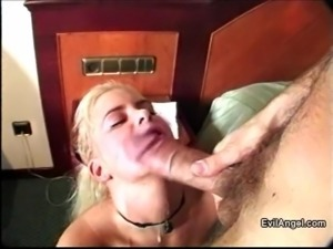 Ravishing blonde with long hair enjoys getting her pussy slammed doggy style