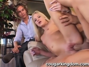 Enchanting young wife with tiny boobs enjoys a wild ride of fucking