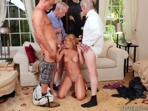 Three old guys were paying a good amount, so I accepted their offer for sex....