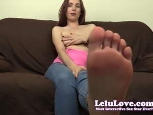 Lelu Love-Barefoot In Jeans Jerkoff Encouragement