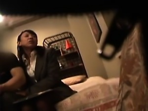 Cheating Japanese wife with big boobs gets pounded hard by