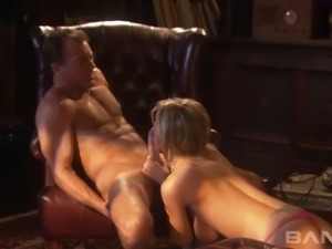 Big boobed blond MILF Brooke Banner enjoys steamy oral session with her horny...