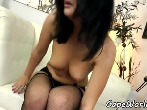 European beauty assfucked and gives bj