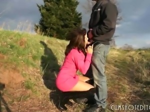 Cute German Amateur Teen Filled With Cum Outdoors