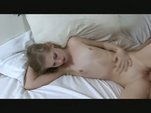 Small tittied wench wants me to fuck her in missionary position