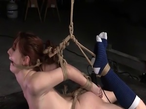Redhead sub tiedup and controlled by master