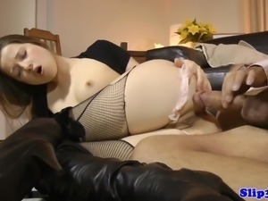 Stockinged euro amateur cocksucking oldman
