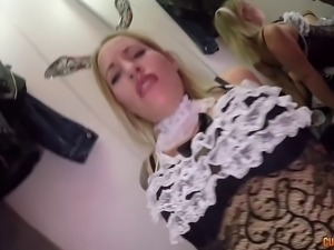 Spanish maid spruces up a cock in need